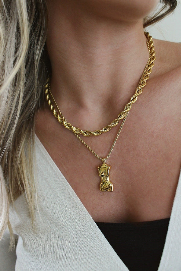 18k Gold Plated Rope & Female Body Layering Set HAUS OF DECK
