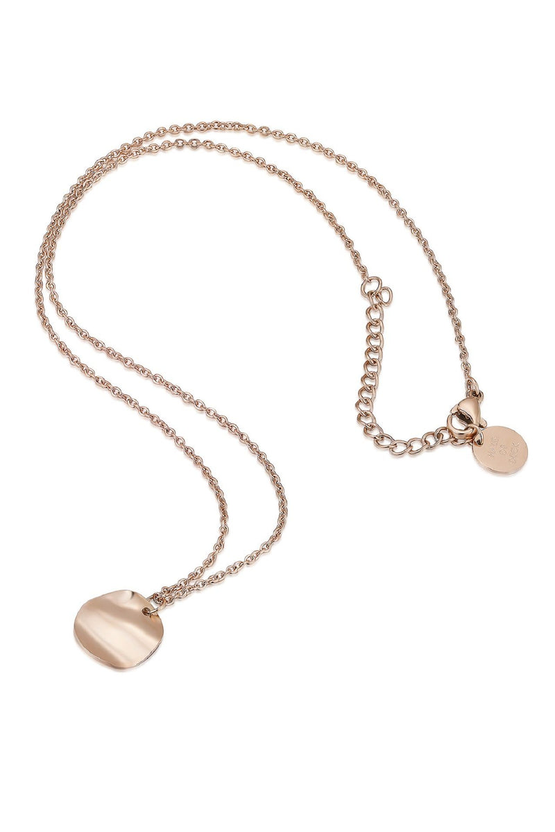 18k Rose Gold Circle Pendant Necklace HAUS OF DECK