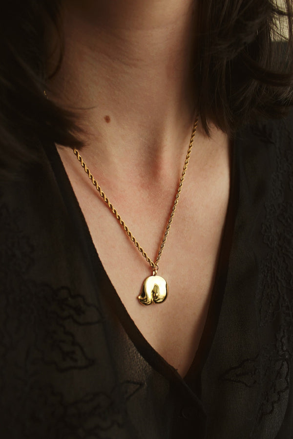 18k Gold Plated Boob Pendant Necklace