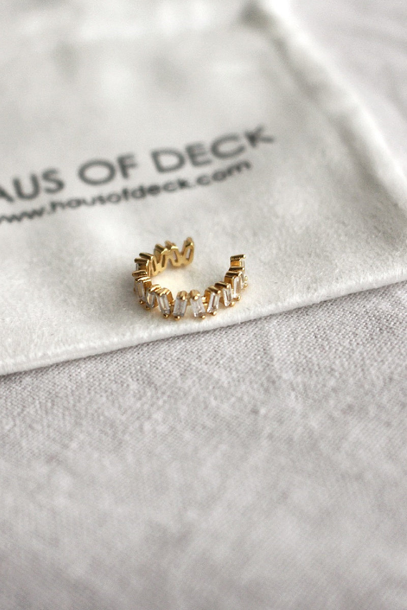 18k Gold Plated Cubic Zirconia Ear Cuff
