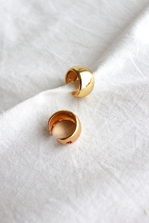 Set of Two Gold Ear Cuffs
