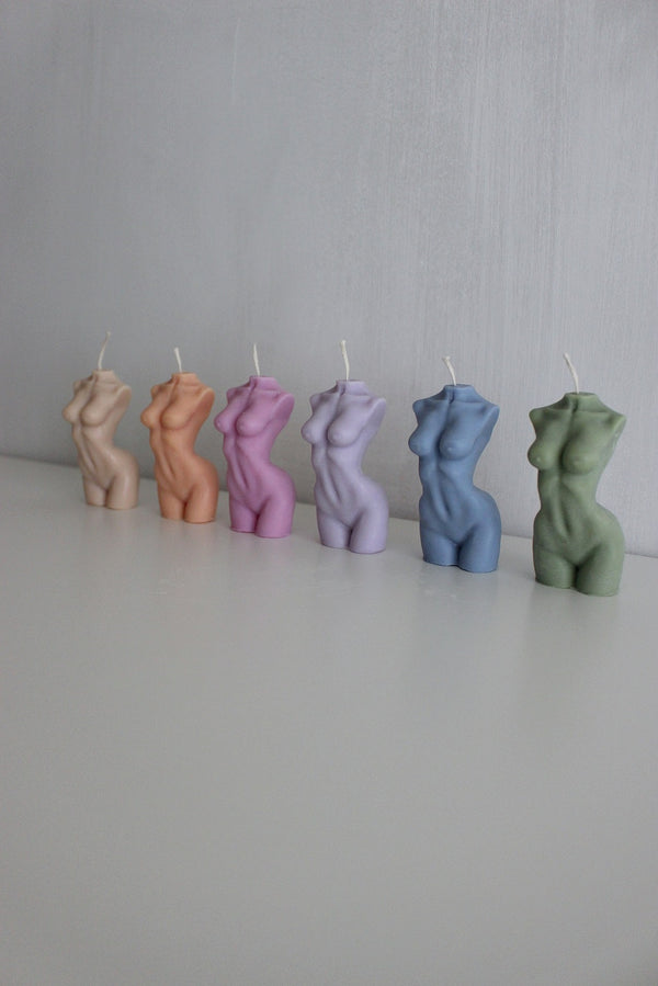 Female Body Venus Goddess Candle (Various Colours)