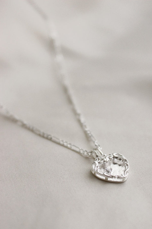 Sterling Silver Herringbone & Heart Layering Set
