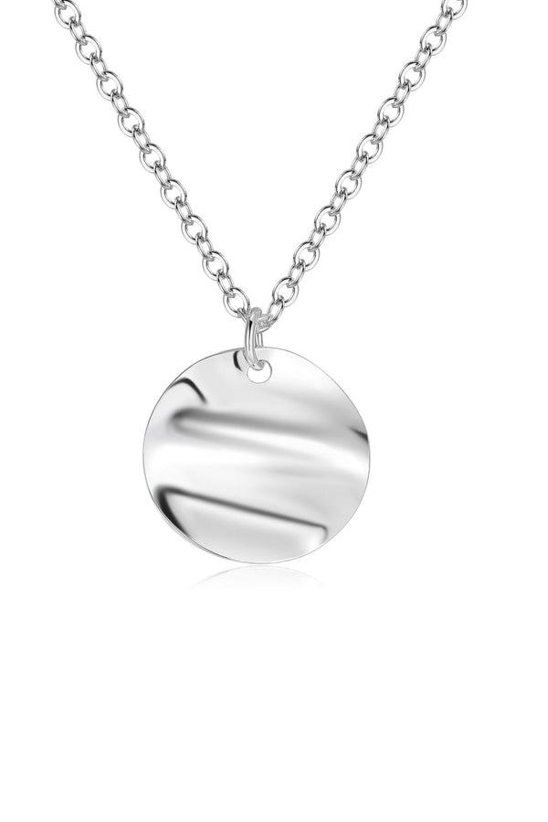 Sterling Silver Circle Pendant Necklace HAUS OF DECK