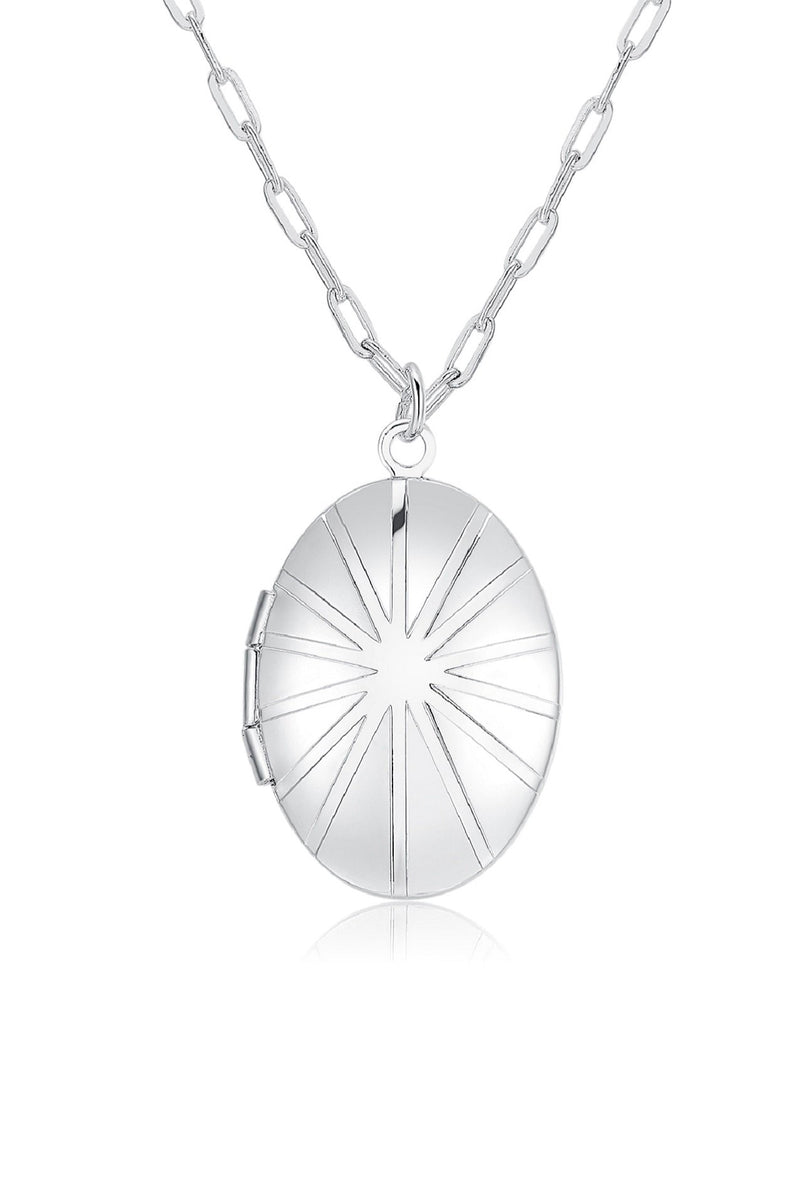 Sterling Silver Locket Necklace HAUS OF DECK
