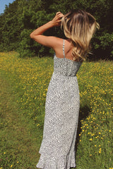 White Leopard Print High Low Dress HAUS OF DECK
