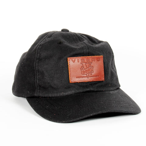 Viberg Black Canvas Field Cap