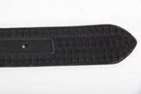 Embossed Black Leather Belt Tip