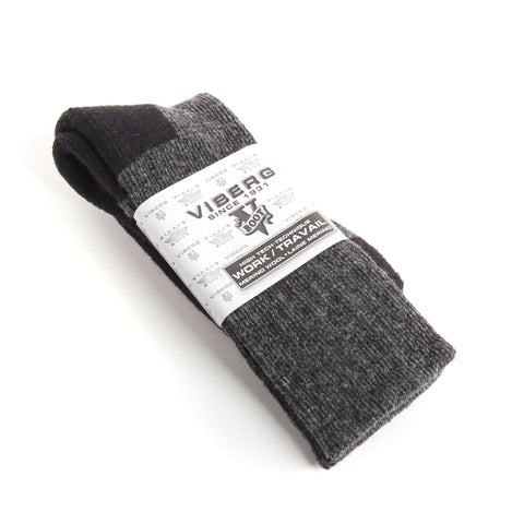 Viberg 40% Merino Wool Black Work Socks (made in CANADA)