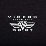 Viberg Boot t-shirt logo close-up