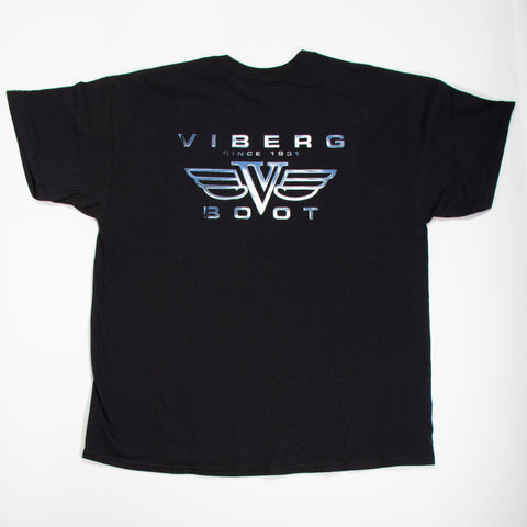 Viberg Boot t-shirt chrome logo, back