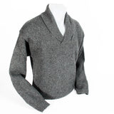 Grey Shawl Sweater