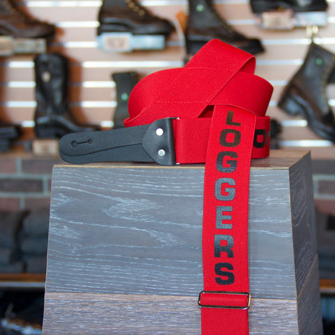 Loggers World Red Suspenders