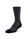 Wool Work Socks, Black/Grey