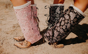Paisley Princess Boho Boot Covers