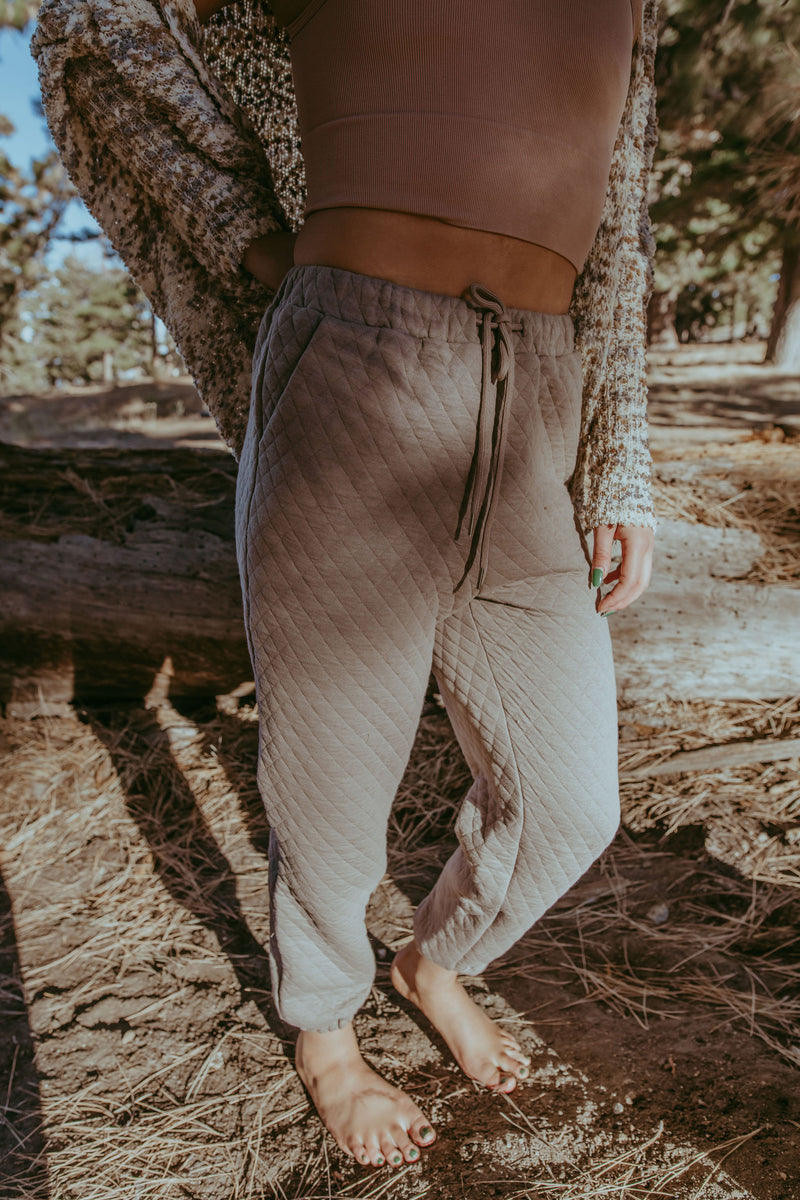 BILLIE QUILTED SWEATPANTS