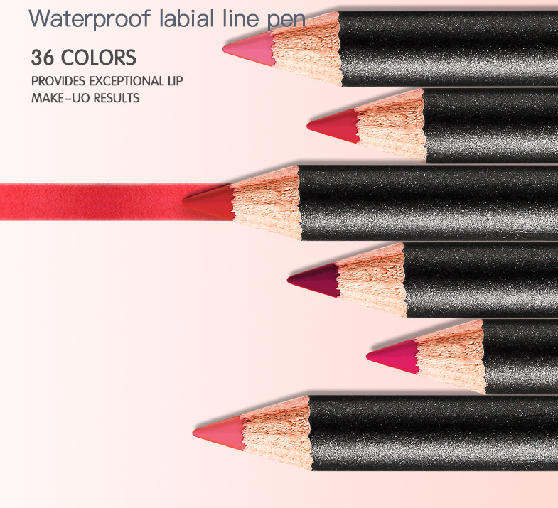 36 Colors Lip Liner Pencil Waterproof Non-marking Matt Velvet Lipstick Pen