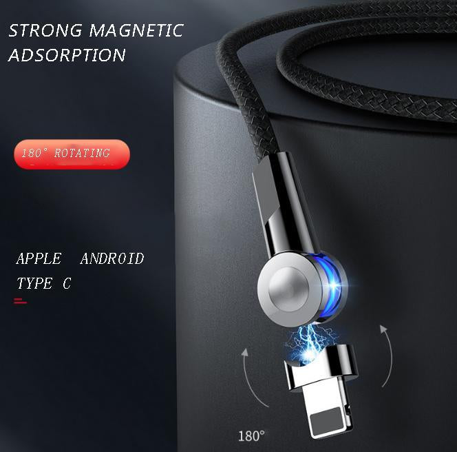 180° Rotating Strong Magnetic Adsorption Data Cable