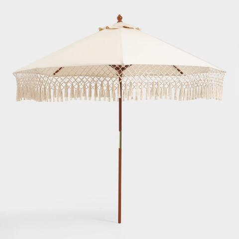 Boho Fringe Umbrella