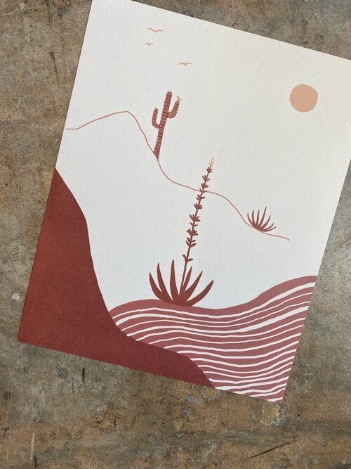 """Desert Afternoon"" Print"