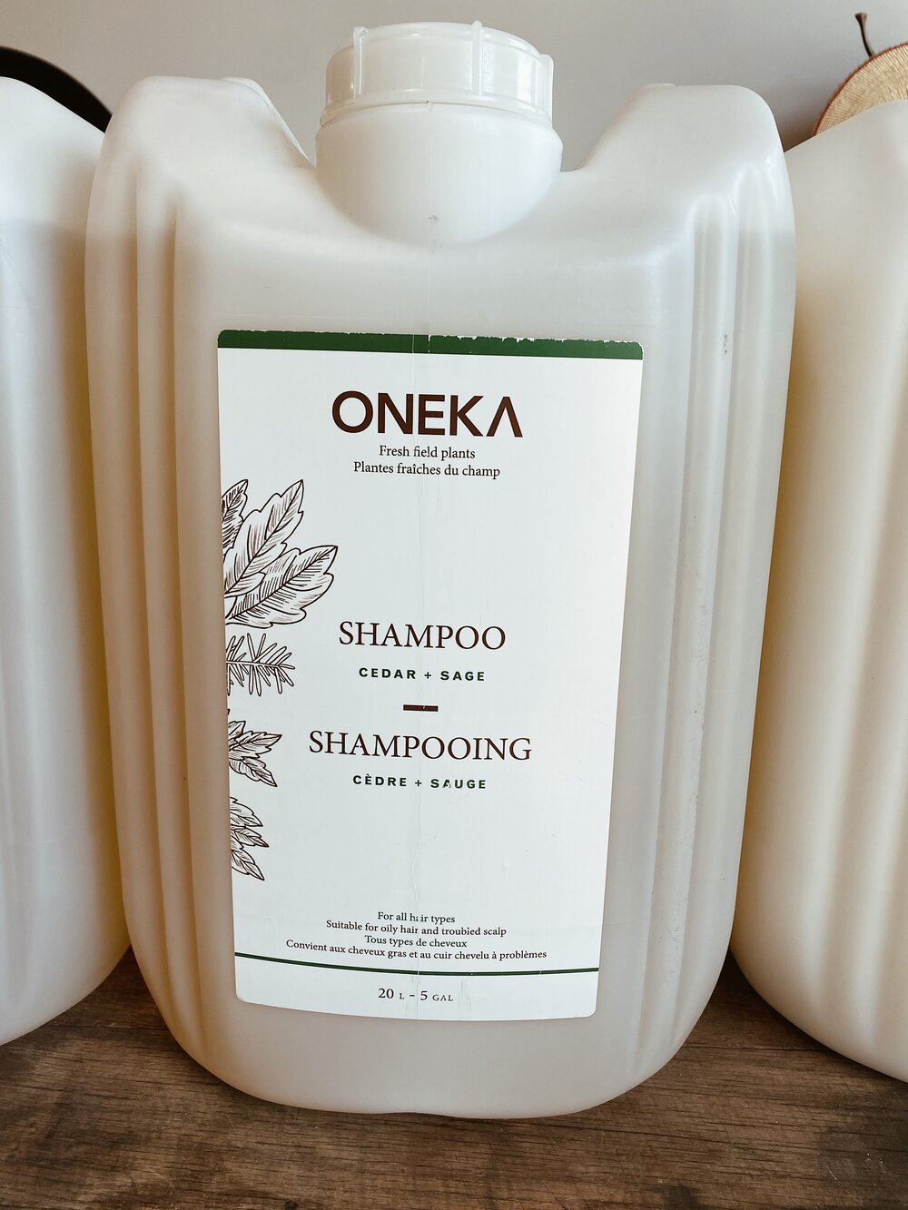 Cedar + Sage Shampoo/Conditioner Organic Fill Station