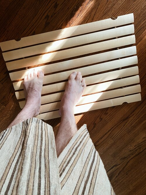 Handmade Birch Wood Bath or Outdoor Mat