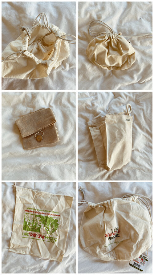 Organic Cotton Bags- Assorted Sizes/Types