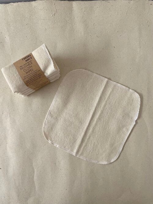 Reusable 100% Cotton Wipes Set of 10