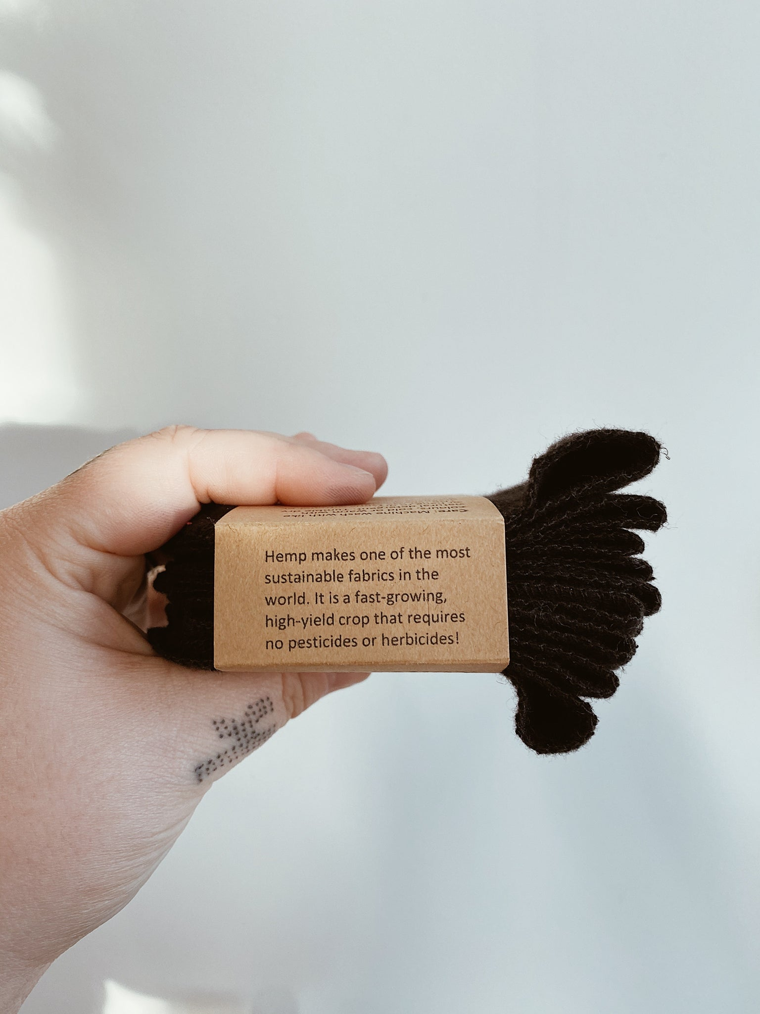 Black Hemp Cloth Wipes