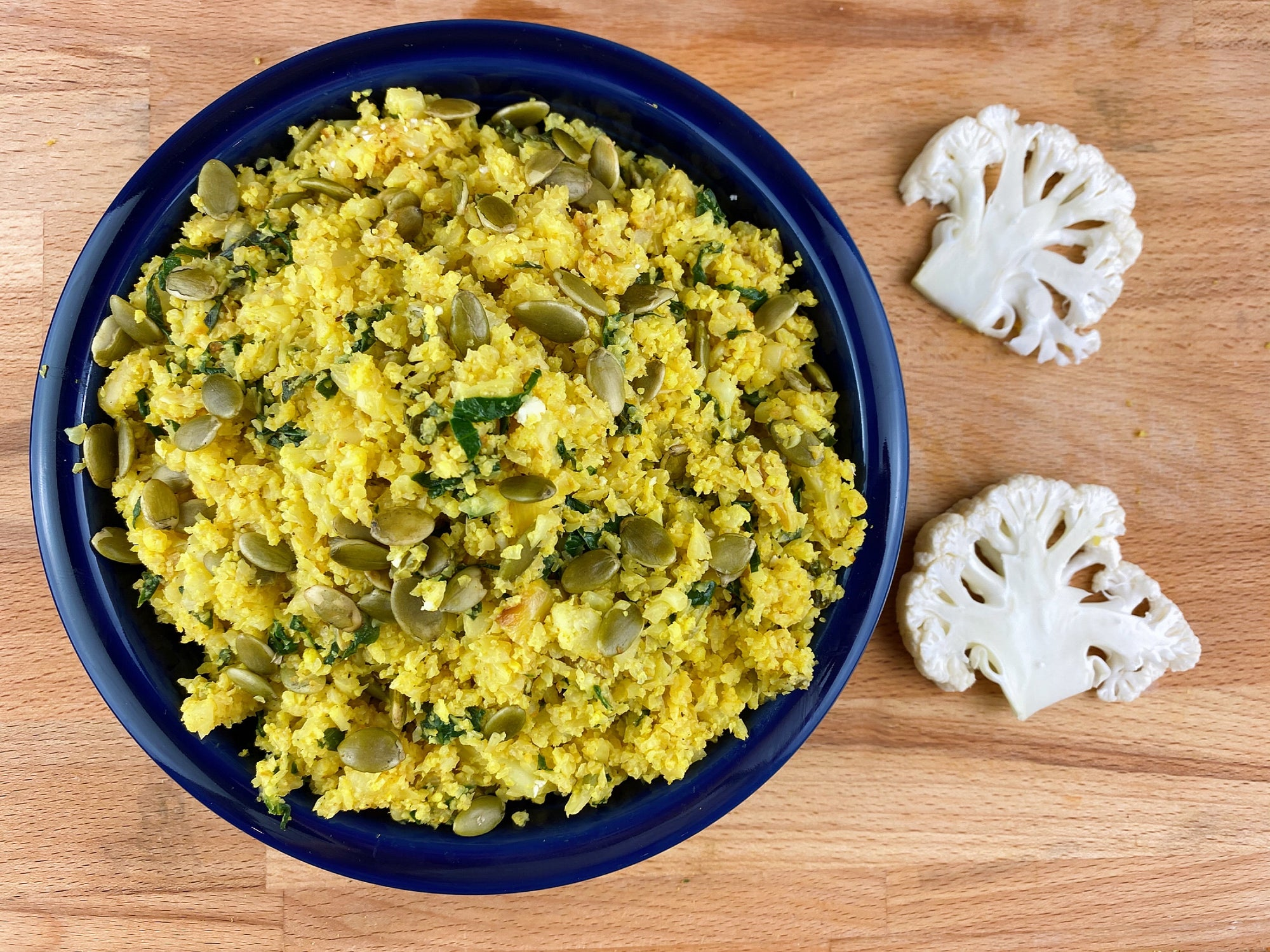 Healthy Cauliflower Rice Pilaf