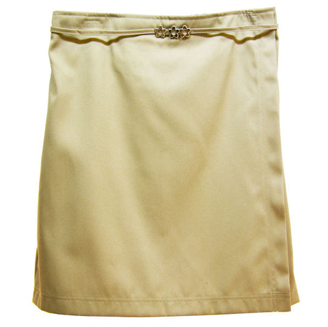 Skort with Center Metal Buckle