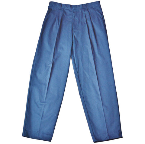 Pleated Pants with Double Knee