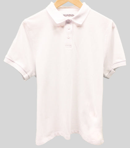 Unisex Short Sleeve Pique Polo with Knit Collar