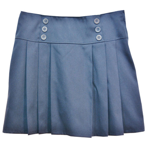 Pleated Skort with Buttons