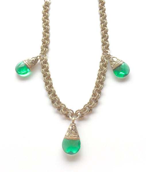 Green Quartz Short Necklace