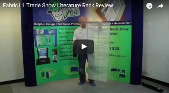 Fabric L1 Trade Show Literature Rack Video Review