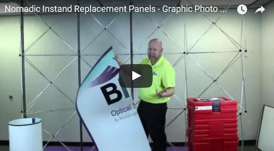 Nomadic Instand Replacement Panels - Graphic Photo Mural & Fabric