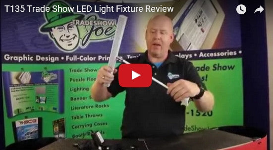 T135 Trade Show LED Light Video Review