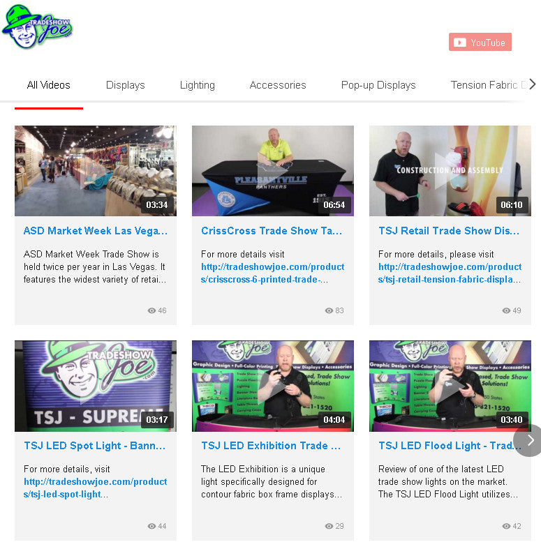 Website Update: Trade Show Video Reviews Page Enhancements