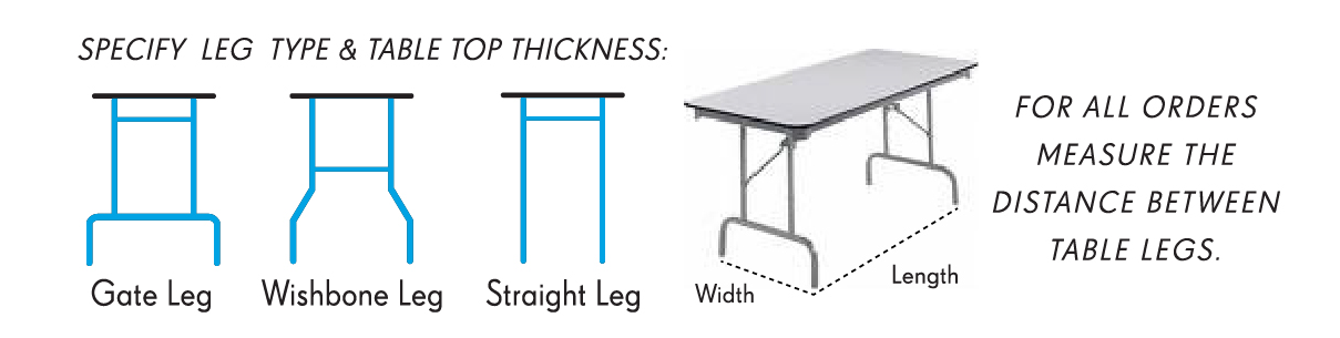 CrissCross Table Cover Leg Options