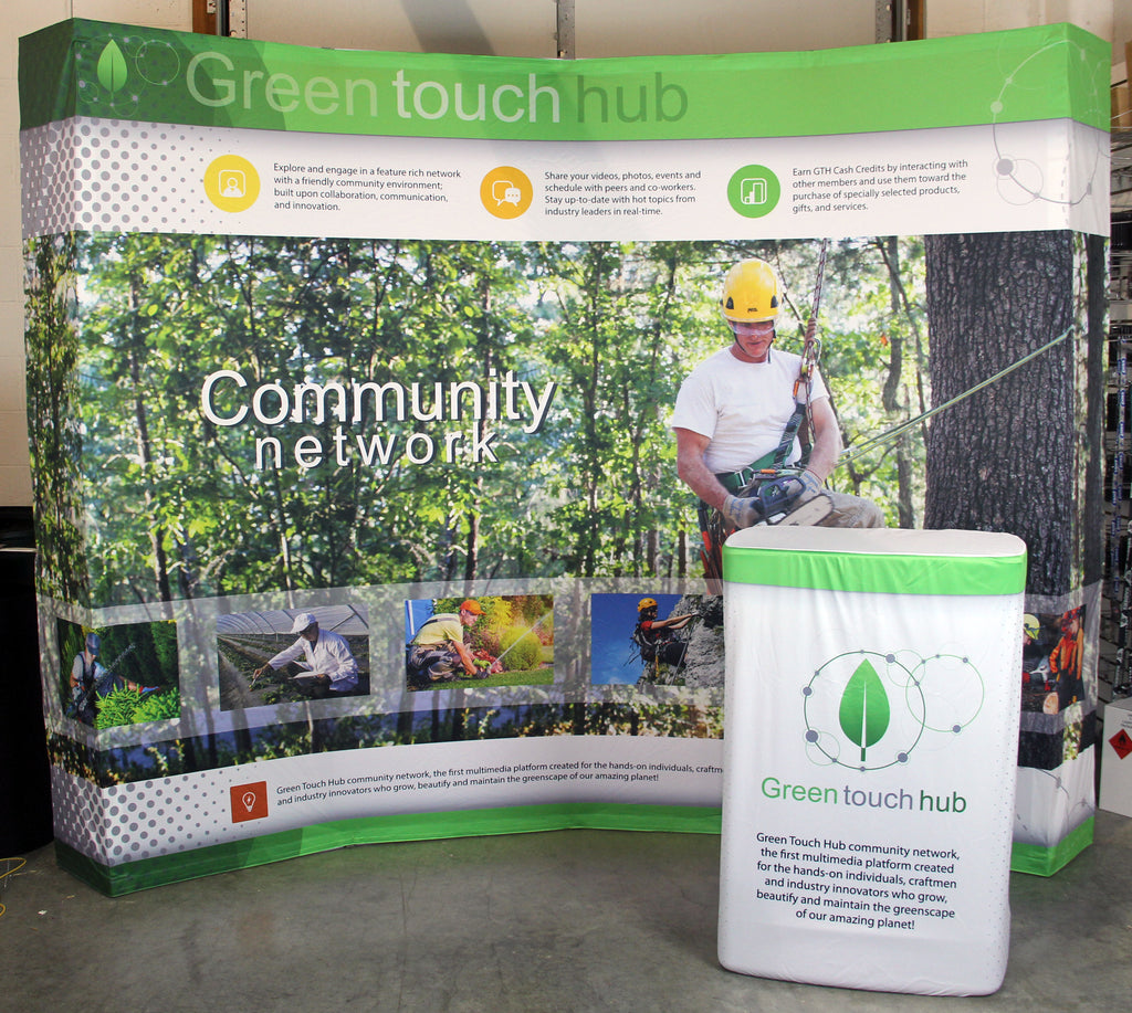 Green touch hub Hop Up Display