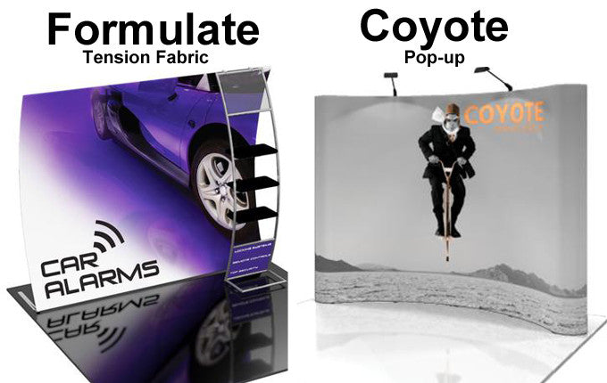 Tension Fabric and Pop-up Display Visual Comparison