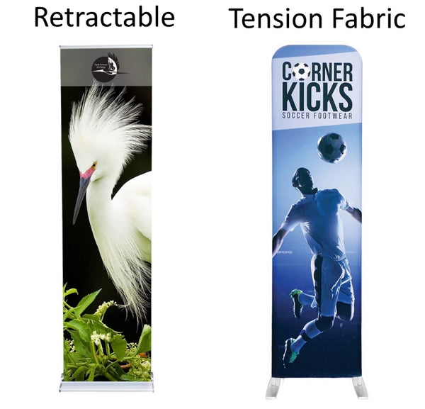Tension Fabric Banner Stand VS Retractable Banner Stand