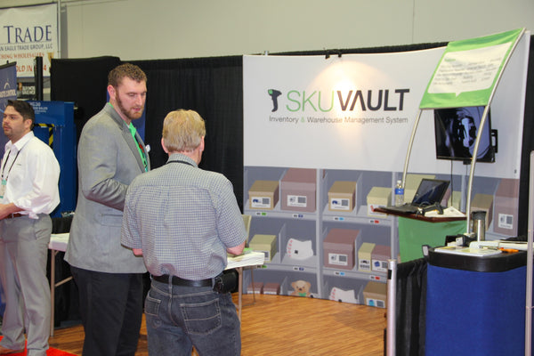 Visitor at SkuVault Trade Show Booth