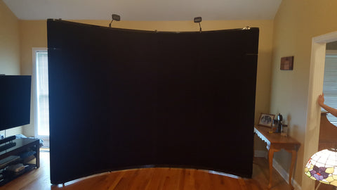 10' Full Fabric Black Skyline Mirage Pop-up Display with Podium Kit - Preowned