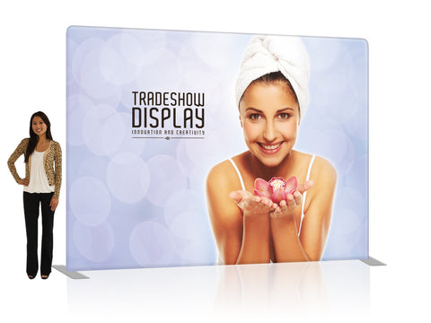 10 Ft Fabric Tension Tube Trade Show Display - Straight Single - Sided Graphic Package