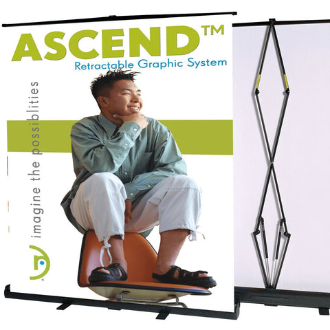 Trade Show Ascend Banner Stand Yellow
