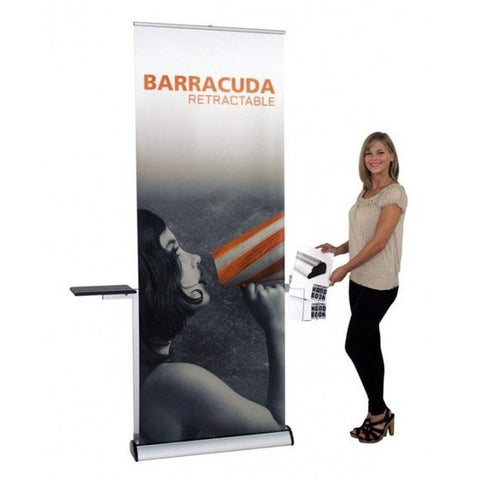Barracuda Trade Show Banner Stand with Model