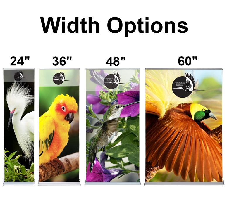 Cascade Banner Stand Size Options
