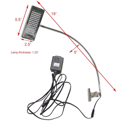 Clamp LED Trade Show Light Size Specs